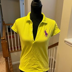 Girls Lemon Line Polo